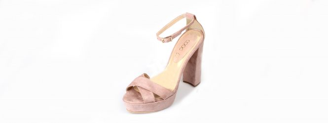 eco leather sanalds high heel